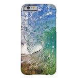 iPhone 6 sombras del caso de foto azul de la ola Funda De iPhone 6 Slim