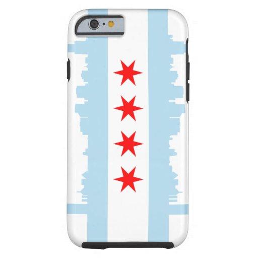 iPhone 6 Tough™ de la bandera de Chicago Funda De iPhone 6 Tough