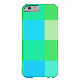 iPhone 6 verdes y azules lindos de la tela Funda Para iPhone 6 Barely There