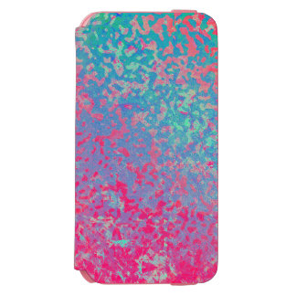 iPhone 6 Wallet Case Colorful Corroded Background