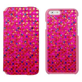 iPhone 6 Wallet Case Polka Dots Sparkley Jewels Incipio Watson™ iPhone 6 Wallet Case