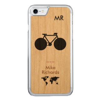 iPhone 6 with black bike on wood Carved iPhone 7 Case