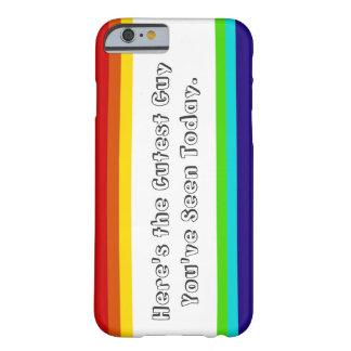 iPhone 6case del arco iris de la diversión Funda Barely There iPhone 6