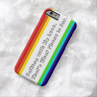 iPhone 6case del mensaje del arco iris Funda Barely There iPhone 6