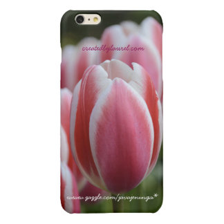 iPhone 6s Cell Phone Case Cover Pink Tulip Flowers Glossy iPhone 6 Plus Case