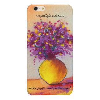 iPhone 6s Cell Phone Case Cover Purple Flowers Glossy iPhone 6 Plus Case