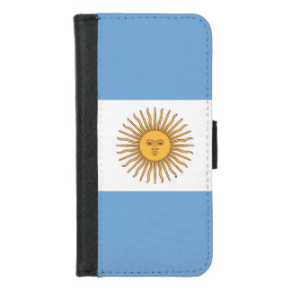 iPhone 7/8 Wallet Case with flag of Argentina