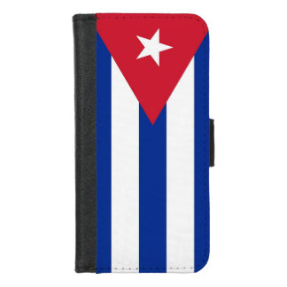 iPhone 7/8 Wallet Case with flag of Cuba
