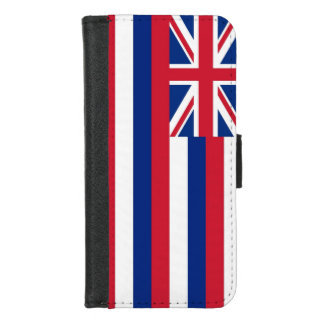 iPhone 7/8 Wallet Case with Flag of Hawaii