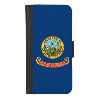 iPhone 7/8 Wallet Case with Flag of Idaho