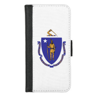 iPhone 7/8 Wallet Case with Flag of Massachusetts