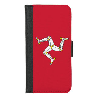 iPhone 7/8 Wallet Case with Isle of Man flag, UK