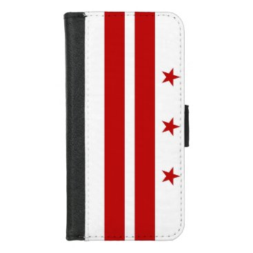 iPhone 7/8 Wallet Case with Washington DC flag