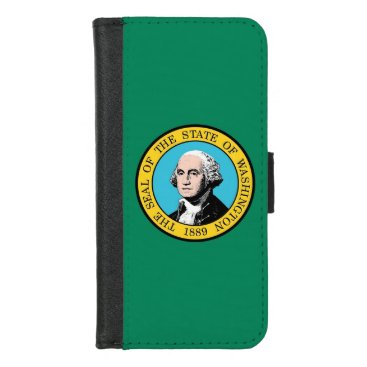 iPhone 7/8 Wallet Case with Washington State flag