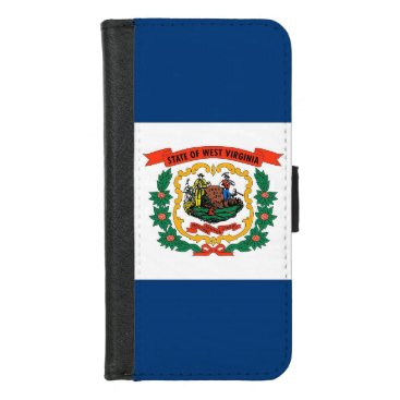 iPhone 7/8 Wallet Case with West Virginia flag