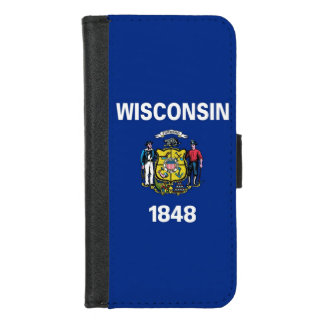 iPhone 7/8 Wallet Case with Wisconsin State flag