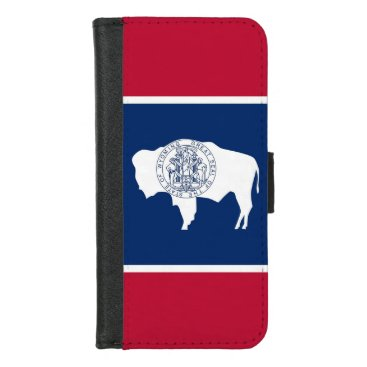 iPhone 7/8 Wallet Case with Wyoming State flag
