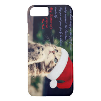 iPhone 7, Barely There del gato del navidad Funda iPhone 7