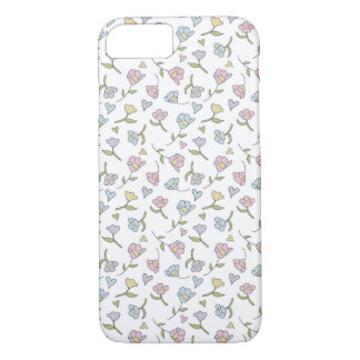 iPhone 7 barely there hearts & flowers case