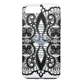 iPhone 7- BLACK LACEY LADY W. DIAMOND iPhone 7 Plus Case