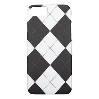 iPhone 7 case - Argyle Squares - Vintage RedStitch
