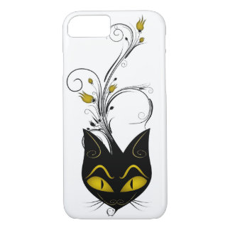iPhone 7 case Barely There Case Black Cat Yellow F