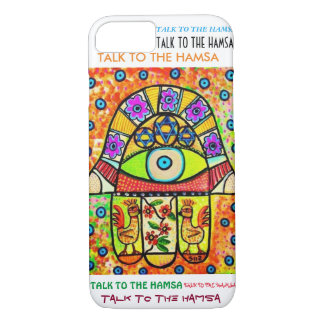 iPhone 7 case Birds Of Paradise Hamsa cell