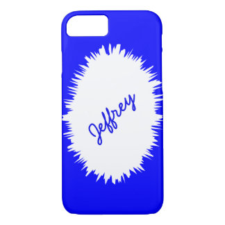 iPhone 7 Case, Blue and White, Personalized iPhone 7 Case