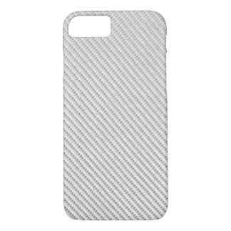 iPhone 7 case - Carbon Fiber - Metallic White