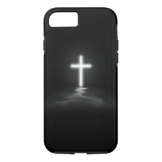 iPhone 7 case - Christian Cross in the Mist