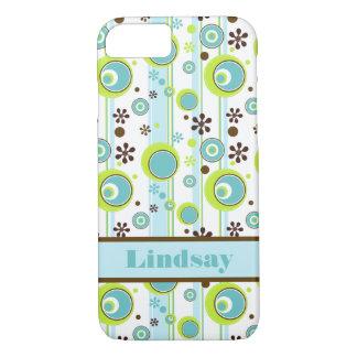 iPhone 7 Case | Circles | Aqua Green Brown