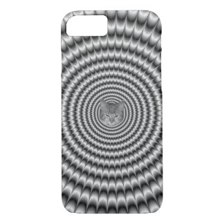 iPhone 7 Case  Circular Explosion in Silver