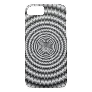iPhone 7 Case  Circular Explosion in Silver