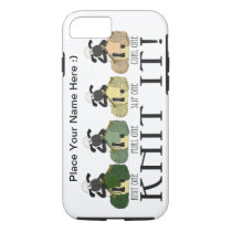 iPhone 7 case cute sheep Knit it case