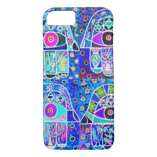 iPhone 7 case Double Blue Hamsa cell