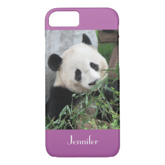 iPhone 7 Case Giant Panda, Purple, Orchid