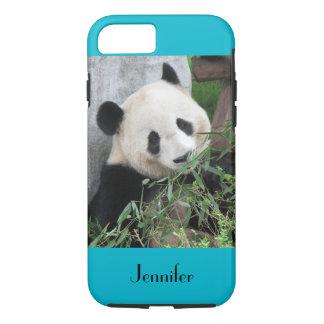 iPhone 7 Case Giant Panda Scuba Blue Background