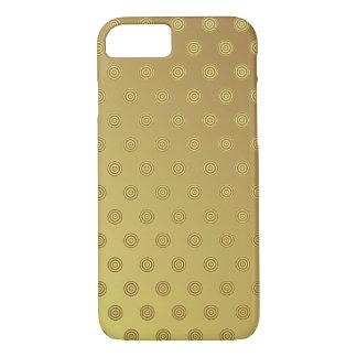 iPhone 7 Case Gold Polka Dot