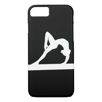 iPhone 7 case Gymnast Silhouette White on Black