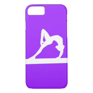 iPhone 7 case Gymnast Silhouette White on Purple