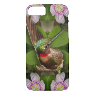iPhone 7 case - hummingbird in bloom