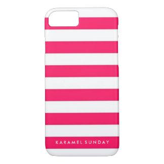 iPhone 7 Case - KS Signature Nautical Red/Pink