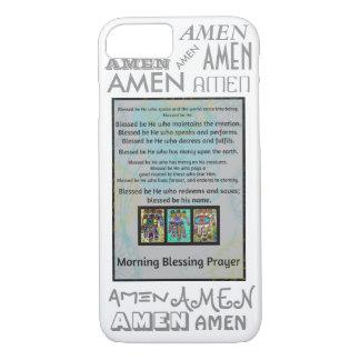 iPhone 7 case Morning Blessing Prayer Amen Hamsa