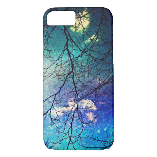 iPhone 7 case- night sky, trees, stars, magical iPhone 7 Case