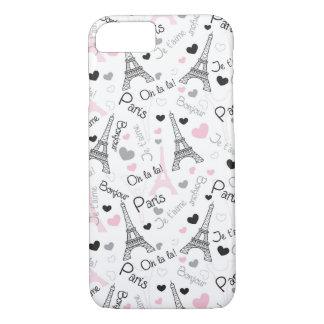 iPhone 7 Case | Paris | Eiffel Tower | Hearts