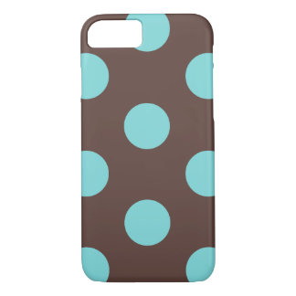 iPhone 7 Case : Polka Dot (Brown & Blue)