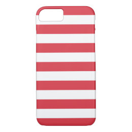 iPhone 7 Case - Poppy Red Bold Stripes