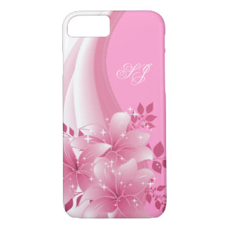 iPhone 7 case Pretty Pink Floral