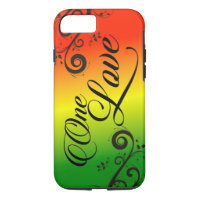 iPhone 7 Case Rasta Reggae One Love