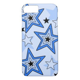 iPhone 7 Case Shades of Blue Star Design